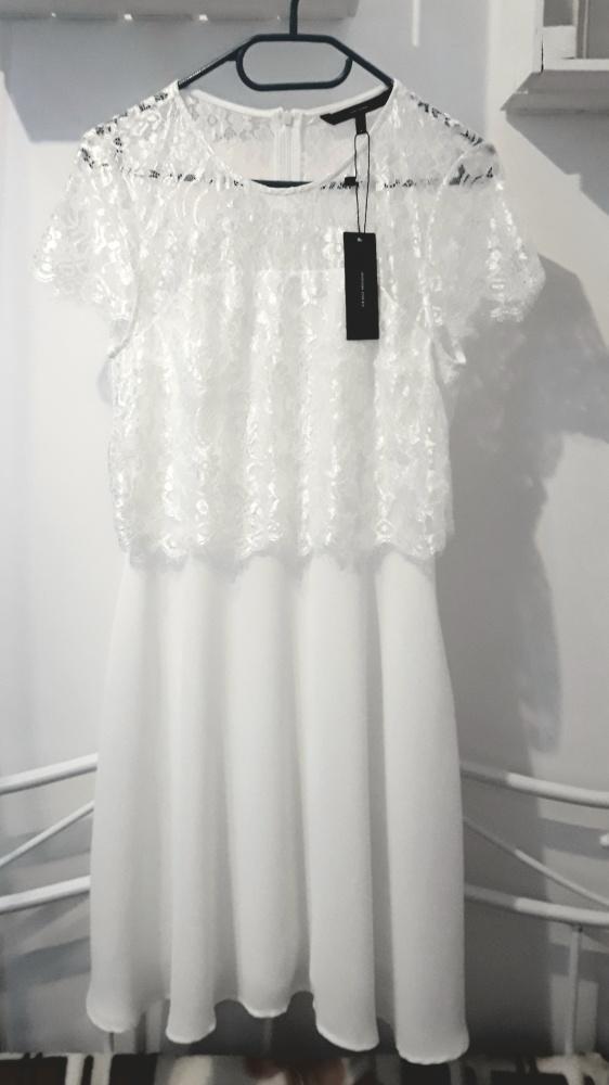 Vero Moda sukienka biała koktajlowa...