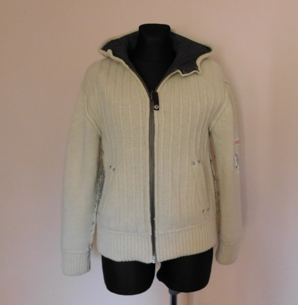 Swetry River Island kurtka sweter z kapturem 38 40