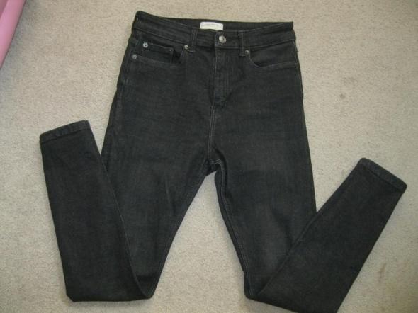 Spodnie spodnie jeans rurki ZARA high S czarne