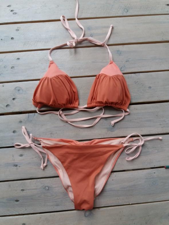 Miedziane bikini H&M góra 42 dół 36