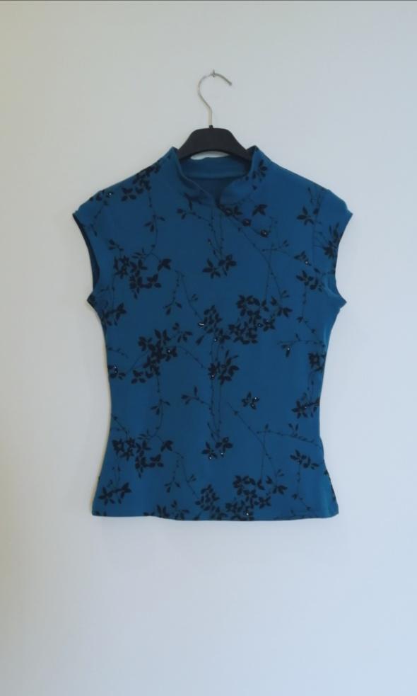 Bluzki Elegancka niebieska bluzeczka