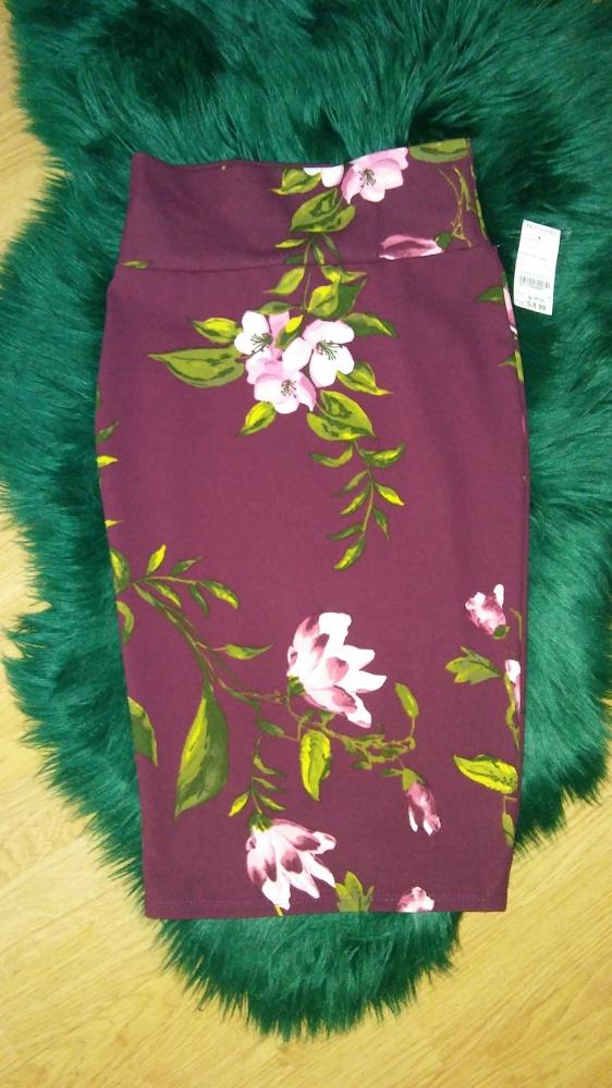 Spódnica midi w kwiaty...
