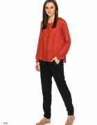 Czerwona bluzka koszula Reserved 40 L ceglana czerwień wiskoza ...