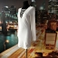 gina tricot sukienka biała ołówkowa ciekawy przód hit 36 S