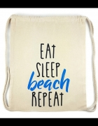 Bawełniany plecak worek plażowy miejski z napisami