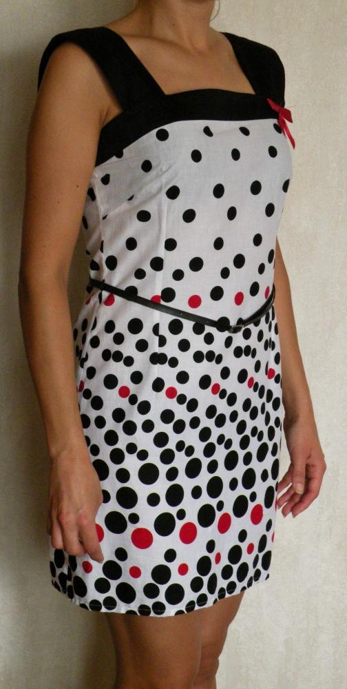NOWA z metkamiGrochy kropki Sukienka tunika mini