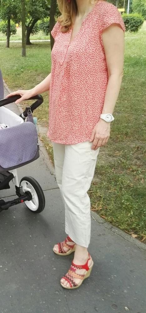 Bluzka ciążowa i do karmienia H&M czerwona w kwiatki rozmiar 38...