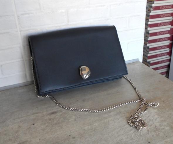 Zara nowa torebka granatowa na łańcuszku elegancka