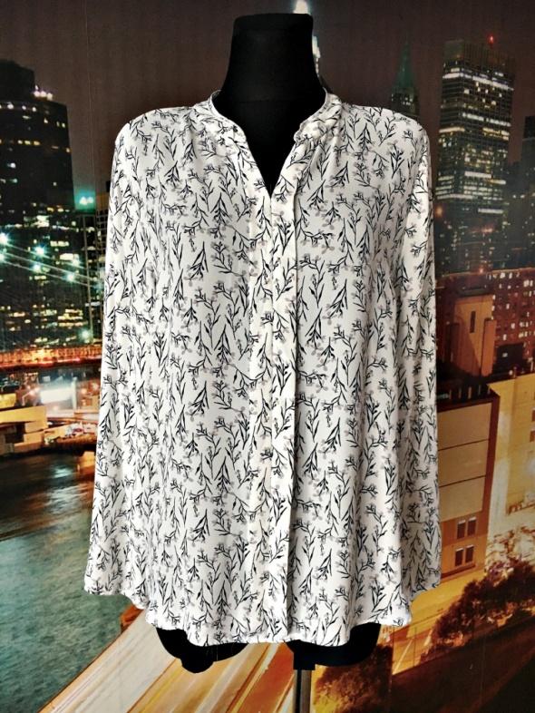 primark bluzka elegancka zwiewna modny wzór kwiaty nowa 46...