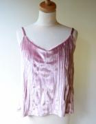 Bluzka Welurowa Welur XL 42 BooHoo Różowa Top...
