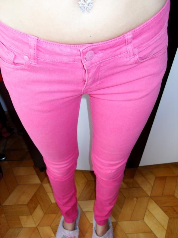 Różowe rurki House M L spodnie hot