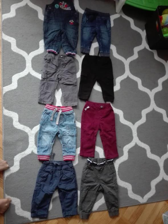 Spodnie i spodenki Chłopięce spodnie jeansy materiałowe