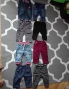 Chłopięce spodnie jeansy materiałowe...