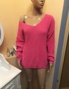 Nowy różowy sweter L...