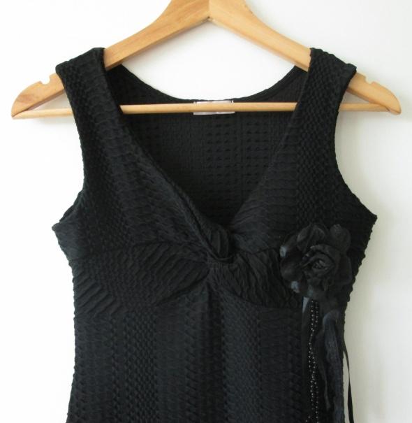 Sukienka mała czarna Orsay marszczona S M