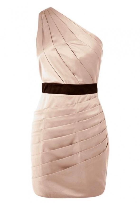 Suknie i sukienki SUKIENKA LIPSY LONDON JEDNO RAMIĘ 32 34