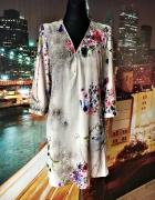 blue vanilla sukienka zip modny wzór kwiaty węża skóra 40 42...