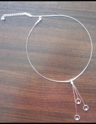 Zestaw naszyjnik i kolczyki w kolorze srebra