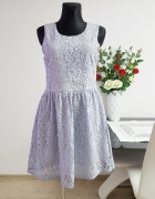 koronkowa niebieska sukienka Amisu...