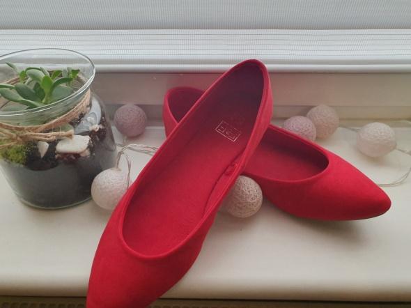 Balerinki Czerwone baleriny