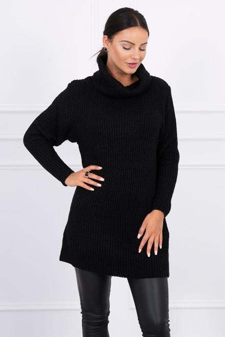 Czarny sweter golf
