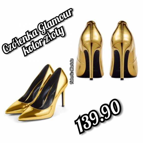 Czółenka Glamour Złote Srebrne...