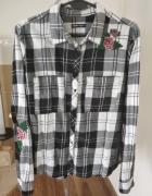 Koszula z różami w kratę Cropp roz XL 42...