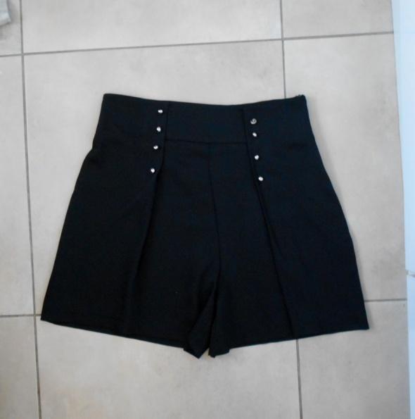 Spodenki Zara nowe spodenki czarne szorty wysoki stan