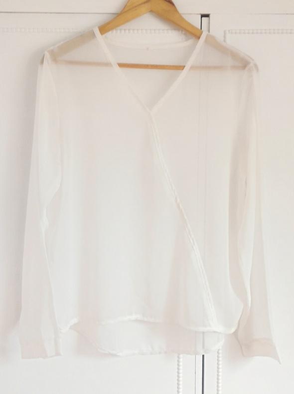 Nowa bluzka mgiełka XXL 44 biała zwiewna koszulka żorżeta...