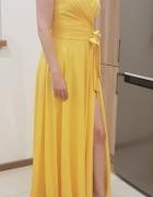 Żółta suknia wieczorowa...