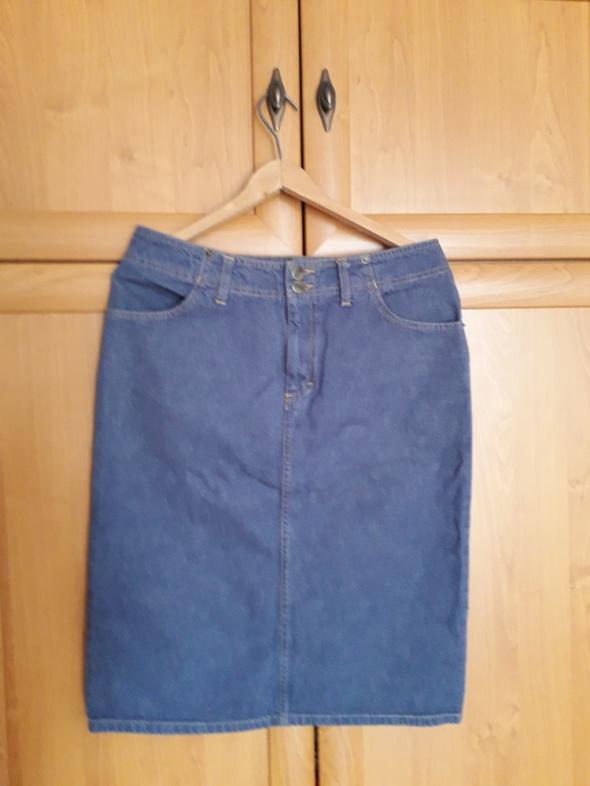 Świetna jeansowa spódnica M
