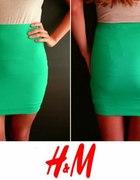 Krótka zielona spódniczka H&M xs 34 S 36 lato...