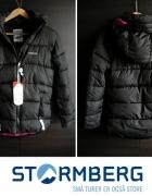Czarna ocieplana kurtka Stormberg z Norwegii XS 34