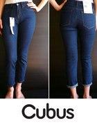 Granatowe spodnie jeansowe jeans Cubus xxs 32...