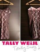 Różowa sukienka z czarną koronką Tally Weijl xs 34...