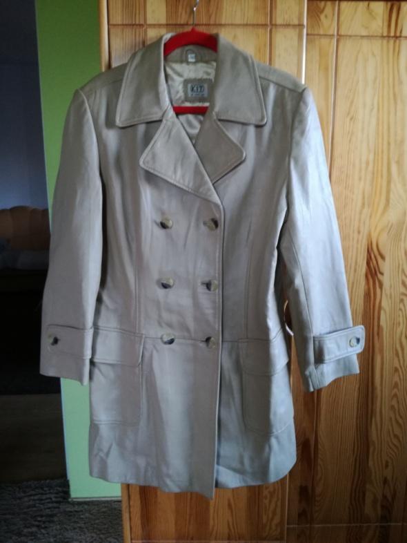 nowy skórzany płaszcz 42