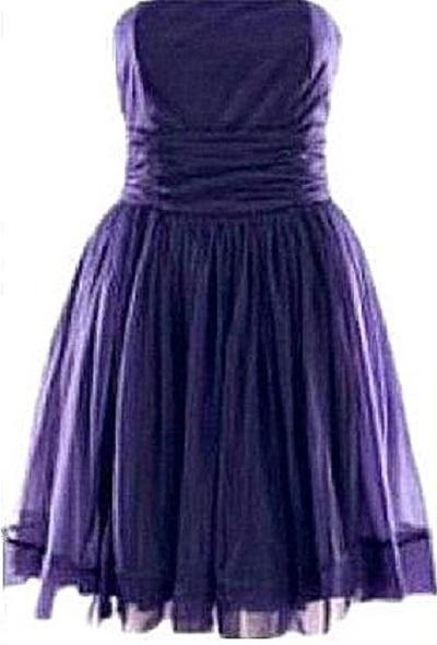 sukienka H&M XS 34 tiulowa fiolet rozkloszowana...