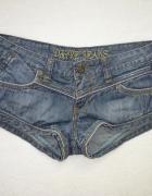 granatowe jeansowe krótkie spodenki 34 XS...