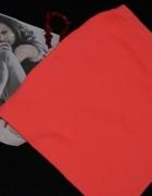 Missguided spódnica orange prążki ołówkowa Xs S M...