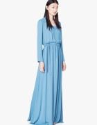 Morska błękitna długa sukienka maxi Mango NOWA...
