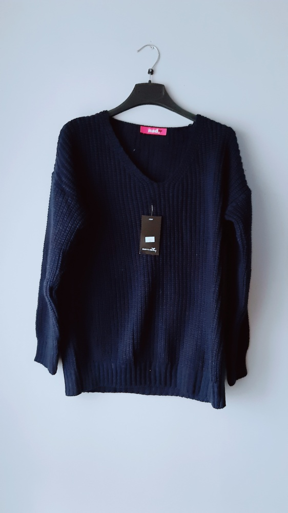 Nowy granatowy sweter z metką