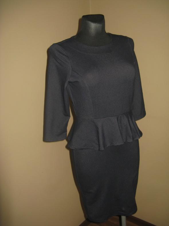 Granatowa sukienka M L