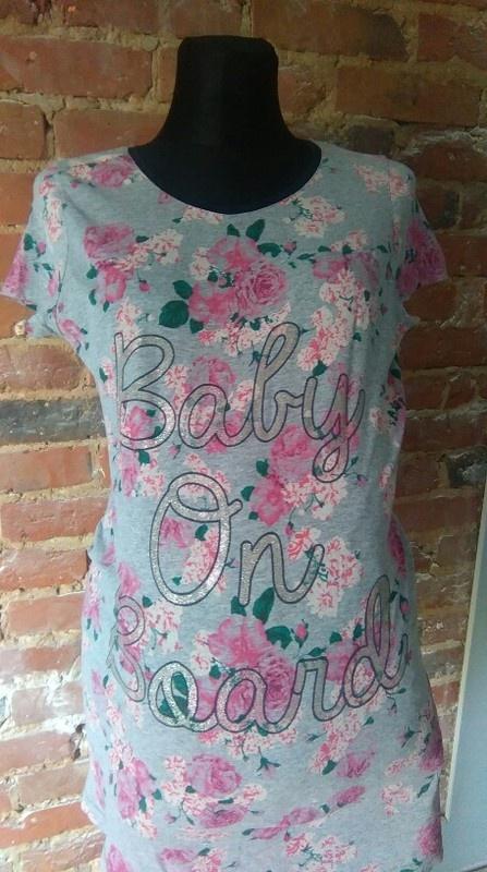 Bluzki bluzka ciążowa kwiaty floral baby on board