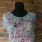 bluzka ciążowa kwiaty floral baby on board