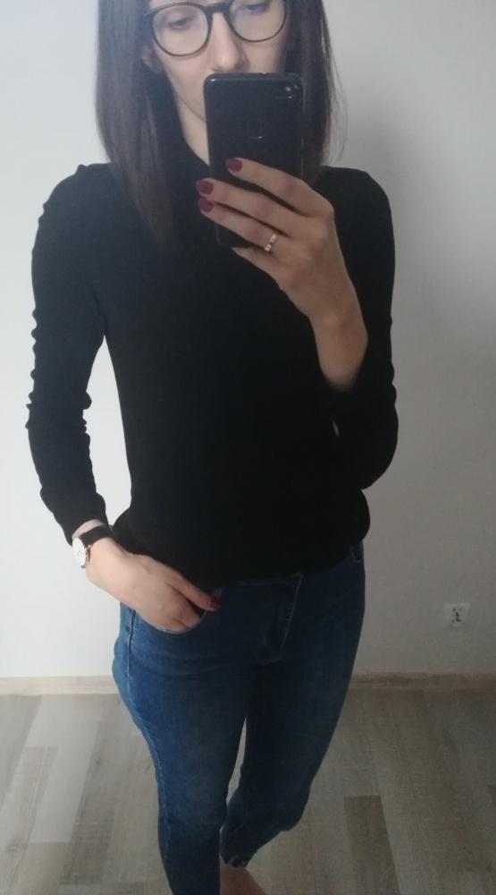 Czarna koszula z aplikacją HOUSE