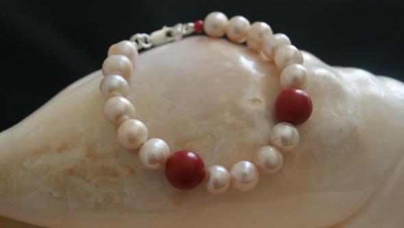 bransoletka perły korale