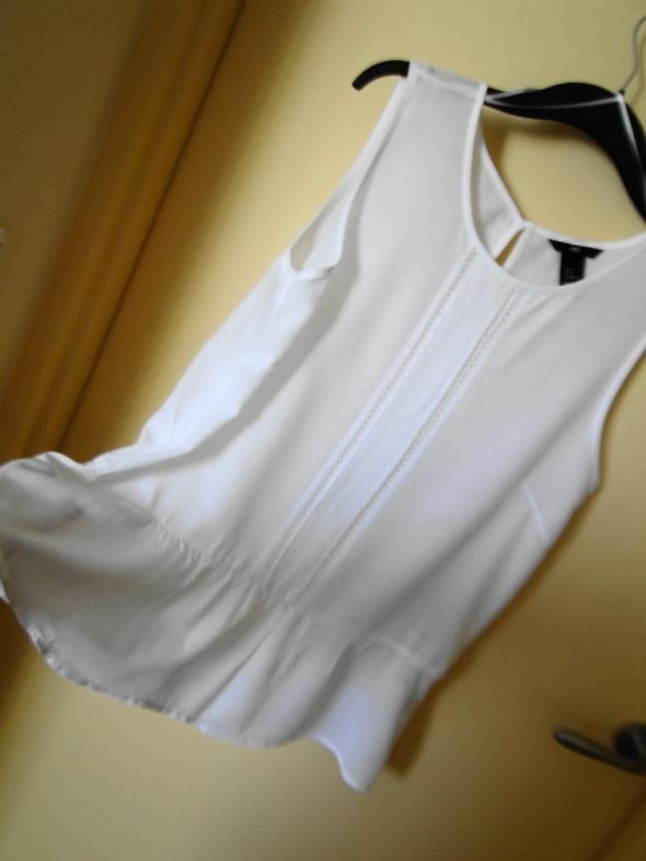 NOWA bluzka 40 biała z mereszką viskoza HM