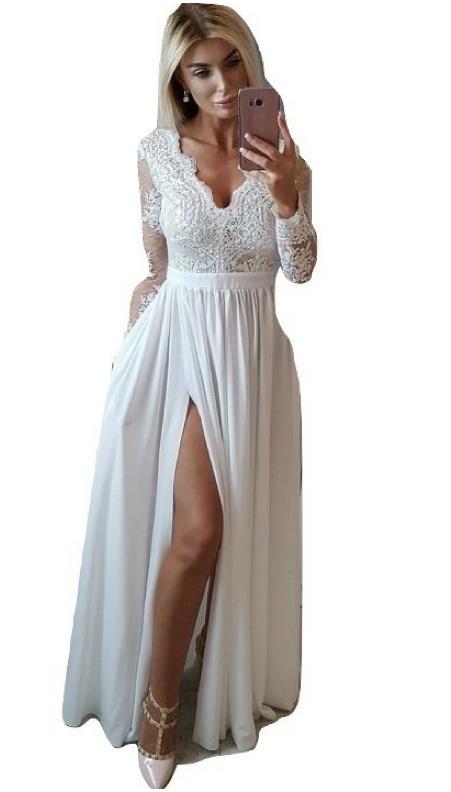 Sukienka gipiura koronkowa ślubna wesele