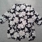 Marynarka kwiaty czarna biała 48 3XL Arcadia Group