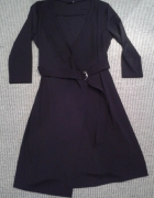 Sukienka KAPPAHL L 40 czarna kopertowa z paskiem...